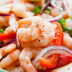 Shrimp Ceviche with Tortilla Chips