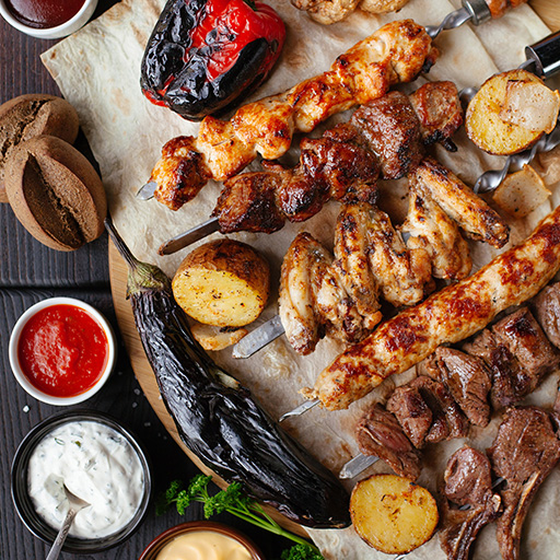 Barbequed Meat